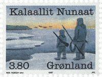 Groenland - 1987. Année des industries de la pêche  - 3,80 kr - Multicolore
