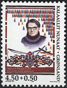 De grønlandske Kvindeforeningers Sammenslutning - 4,50+0,50 kr.- Flerfarvet