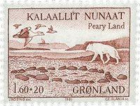 Grønland 1981 - AFA 130 - 1,60 + 0,20 kr. - Rød
