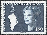 Groenland - Reine Margrethe II - 1,50 kr. - Vert-bleu