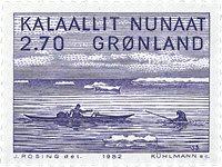 Groenland - 1982. Peinture de Jakob Danielsen - 2,70 kr. - Violet