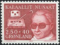 Groenland - 1983. Surtaxe pour les handicapés - 2,50+0,40 kr. - Rouge-brun