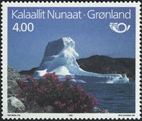 Grønland - 1991. Fællesnordisk udgave. Turistmål -  4,00 kr. - Flerfarvet