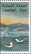 Grønland - 1987. Frimærkeudstillingen Hafnia 87. -  6,50 kr. - Flerfarvet