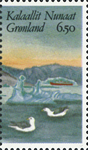 Groenland - 1987 Exposition philatélique HAFNIA 87  - 6,50 kr. - Multicolore