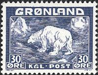 Grønland - Isbjørn - 30 øre - Blå
