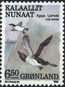 Grønland - 1989. Fugle III - 6,50 kr. - Flerfarvet