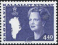 Grønland - Dronning Margrethe II. Ny brugsudgave -  4,40 kr. - Blå