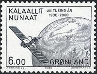 Groenland- 1985 Les 1000 ans de l´histoire du Groenland -6,00 kr- Gris-bleu