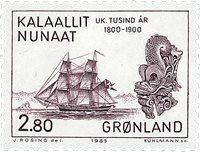 Groenland- 1985 Les 1000 ans de l´histoire du Groenland -2,80 kr- Brunlilas