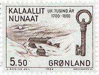 Groenland - Les 1000 ans de l´histoire du Groenland - 5,50 kr - Brun foncé