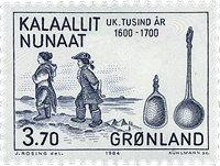 Groenland - 1984. Les 1000 ans de l´histoire du Groenland - 3,70 kr - Bleu