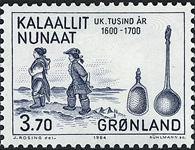 Grønland - 1000-års serien IV. År 1500-1800 - 3,70  kr. - Blå