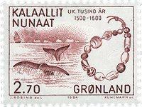 Groenland- 1984. Les 1000 ans de l´histoire du Groenland - 2,70 kr - Carmin