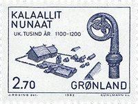 Groenland - 1982. Les 1000 ans de l´histoire du Groenland - 2,70 kr. - Bleu