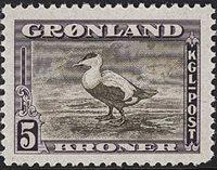 Grønland - 1945 Amerikansk udgave - 5 kr. - Postfrisk