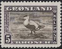 Groenland - Emission américaine - 5 kr. - Violet et brun