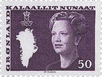 Grønland - Dronning Margrethe II. Ny brugsudgave -  50 øre - Violet