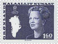 Groenland - Reine Margrethe II - 1,60 kr. - Bleu