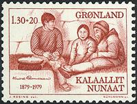Groenland - 1979. Knud Rasmussen - 1,30 + 0,20 kr.  - Rouge-brun