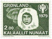 Groenland - 1979. Année internationale de l´Enfant  - 2,00 kr. - Vert-olive