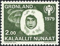 Grønland - 1979. Internationalt børneår - 2,00 kr.  - Grøn