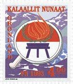 Grønland - FN's internationale år for oprindelige folkeslag - 4,00 kr.