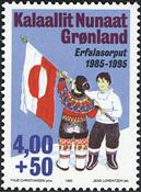 Grønland - 10 året for det grønlandske flag *Erfalasorput* - 4,00+0,50 kr.