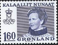 Groenland - Reine Margrethe II - Inscriptions modifiées - 160 øre - Bleu