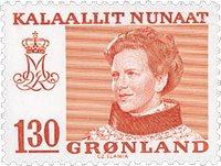 Grønland - Dronning Magrethe II - 130 øre - Rød