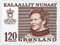 Grønland 1978 - AFA 107 - 120 øre - Rødbrun