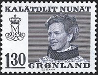 Groenland - Reine Margrethe II - 130 øre - Bleu