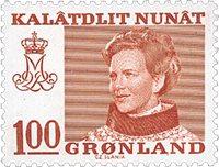 Groenland - Reine Margrethe II - 100 øre - Rouge