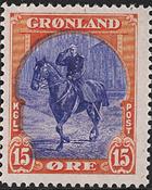 Groenland - Emission américaine - 15 øre - Rouge et bleu