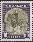Grønland - 1945 Amerikansk udgave - 10 øre - Postfrisk