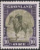 Groenland - Emission américaine - 10 øre - Violet et olive
