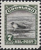 Grønland - 1945 Amerikansk udgave - 7 øre - Postfrisk