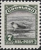 Groenland - Emission américaine - 7 øre - Vert et noir