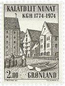 Groenland- 1974. Bicentenaire de la Chambre de Commerce - 2 kr - Brun