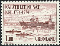 Groenland- 1974. Bicentenaire de la Chambre de Commerce - 1 kr - Brun-rouge