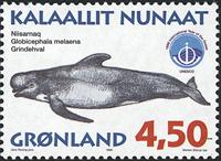 Grønland - 1998. Grønlandske hvaler III - 4,50 kr.  - Matrød / Flerfarvet