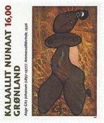 Groenland - 1997. Peintre Aage Gitz Johansen - 16,00 kr. - Multicolore