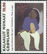 Groenland - 1997. Peintre Aage Gitz Johansen - 10,00 kr. - Multicolore