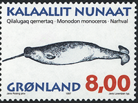 Groenland - 1997. Mammifères marins II - 8,00 kr. - Multicolore