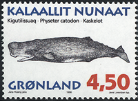 Greenland - 1996. Whales of Greenland Part I - 4,50 kr - Multicoloured