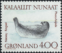 Groenland - 1991. Phoques - 4,00 kr. - Multicolore