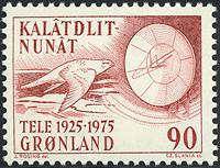 Grønland - 50året for oprettelsen af Grønlands televæsen - 90 øre - Brunrød
