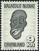 Groenland - 1977. Artisanat local - 9 kr. - Gris foncé
