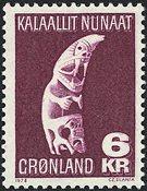 Groenland - Tupilka - animal imaginaire au pouvoir  magique - 6 kr. - Grenat