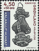 Grønland - 1999. Grønlands Nationalmuseum - 4,50+0,50 kr.- Blå/Rødbrun/Sort